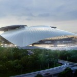 Silk Leaf Stadium by Coop Himmelb(l)au