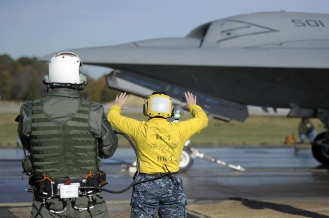 Wireless Ground Handling of X-47B Unmanned Aircraft