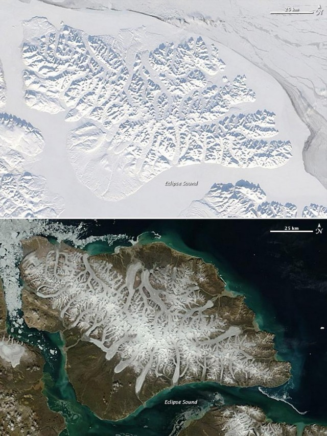 Bylot Island in Winter and Summer
