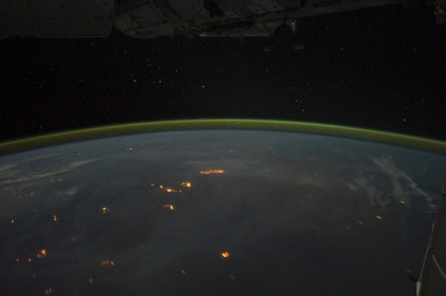 City Lights of Australia from ISS