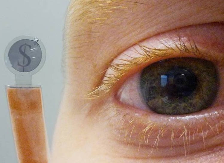 Contact Lens transmit Text Messages to Eyes