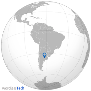 Argentina world map