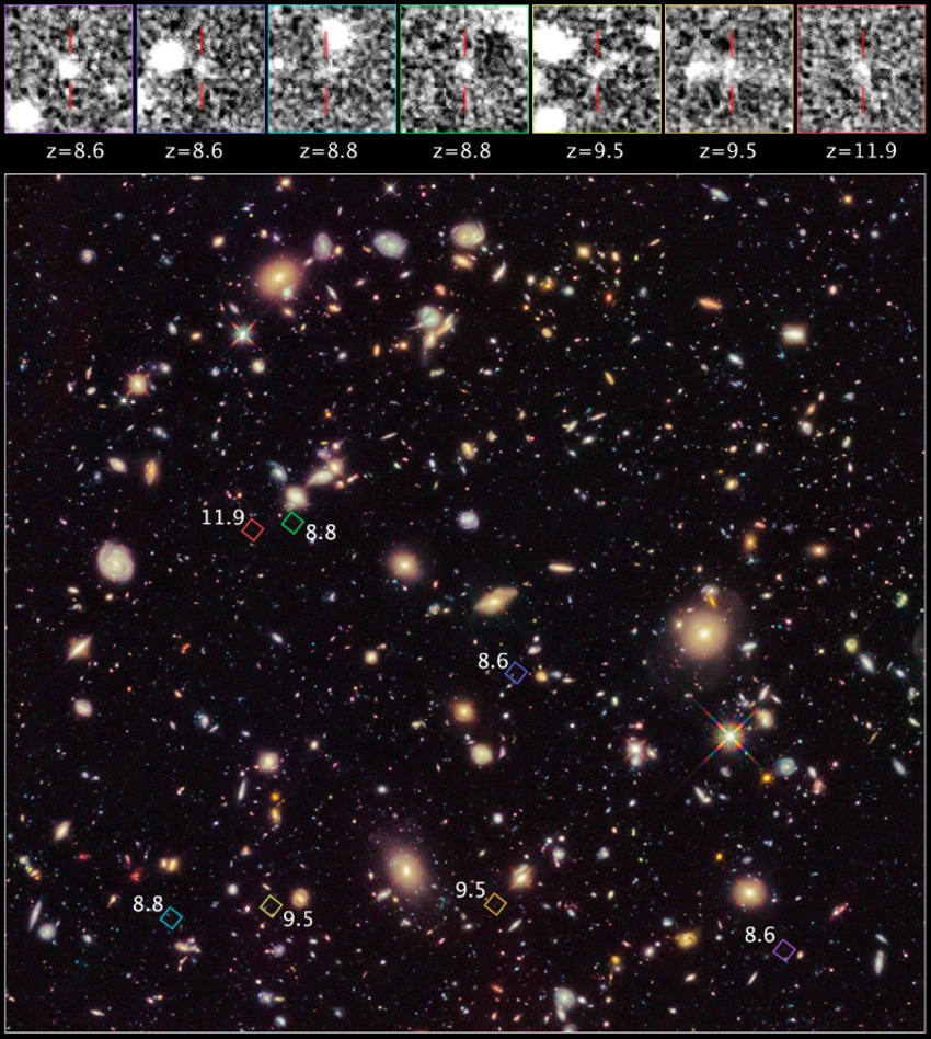 Earliest Views yet of the Universe by Hubble