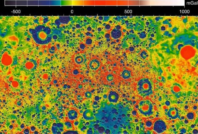 Gravity Map of the Moon by GRAIL