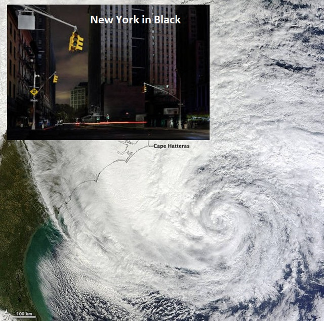 Huge Hurricane Sandy