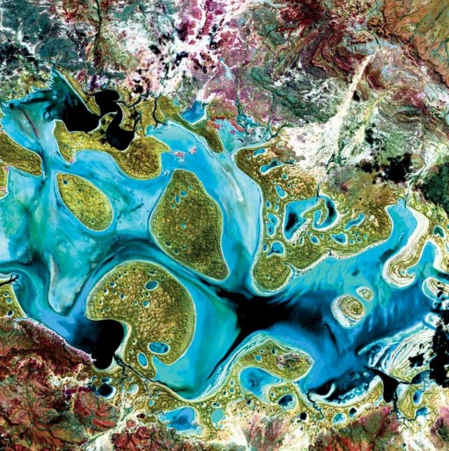 NASA Earth As Art  -Carnegie Lake- Australia