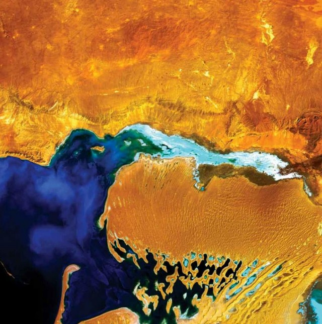 NASA Earth As Art - Dardzha Peninsula - Turkmenistan