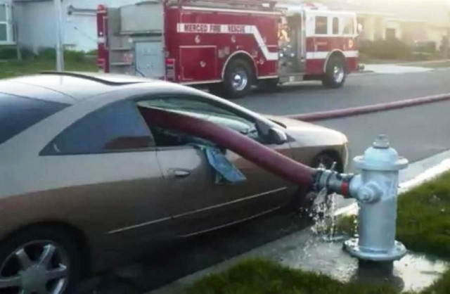 You should not park in front of a Fire Hydrant
