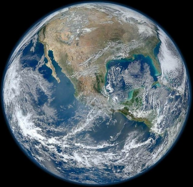 Blue Marble image of the Earth- Earth is Round