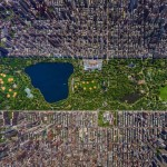 3D high-resolution aerial view of Manhattan