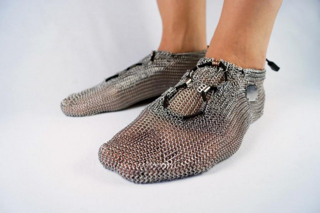 Chainmail barefoot shoes (4)