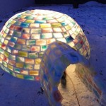 Colorful backyard Igloo