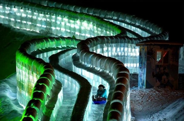 Ice Slides at Harbin Ice and Snow Festival