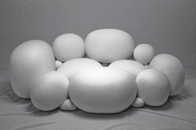 Pebbles like sofa by Kei Harada