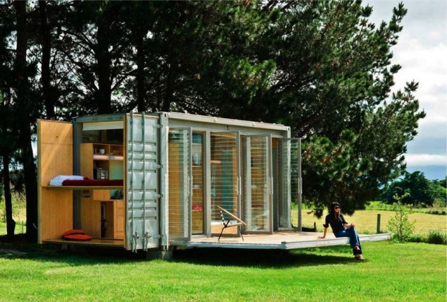 Port-a-Bach shipping container home by Atelierworkshop
