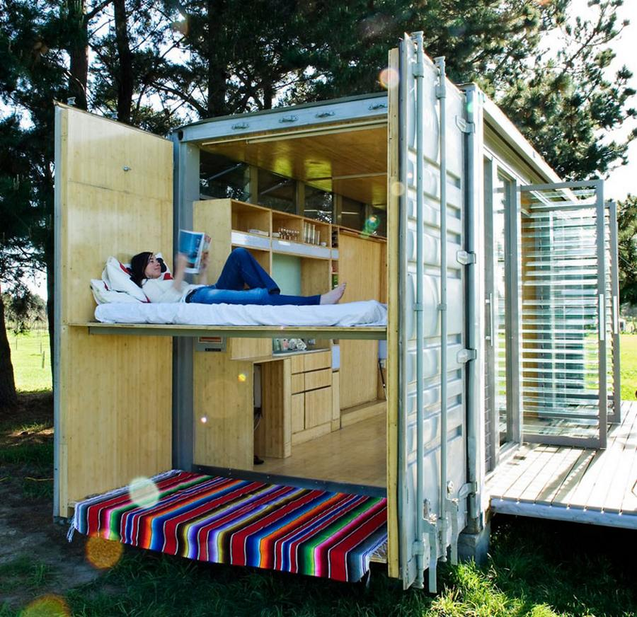Port-a-Bach Shipping Container Home By