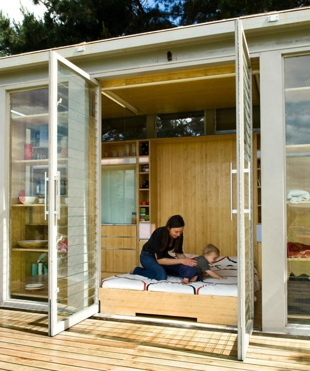 Port-a-Bach shipping container