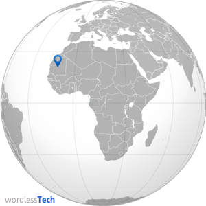 Richat Impact Structure of Mauritania -map