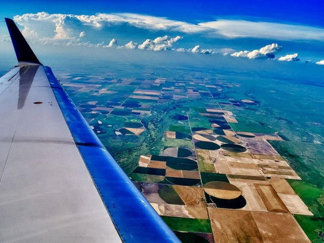 From the Window of Airplane -Somewhere over Kansas