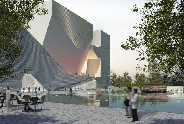 Tianjin Ecology and Planning Museums by Steven Holl Architects (4)