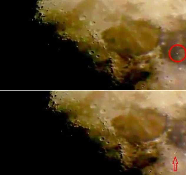 UFO spotted soaring above Lunar surface