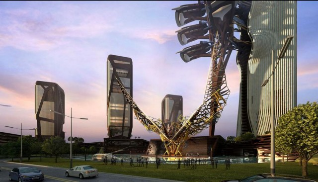 Zoomlion Headquarters - Single Tower by amphibianArc (9)