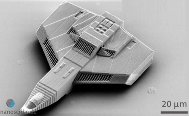 3-D Micro Printed Spaceship