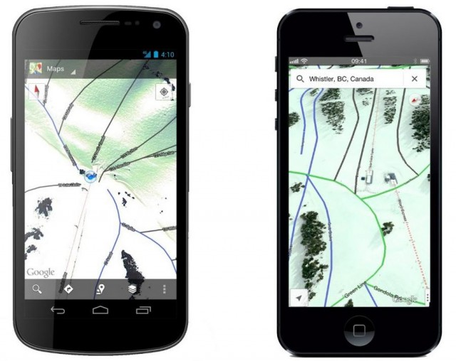 Google adds Ski Resorts routes to Maps