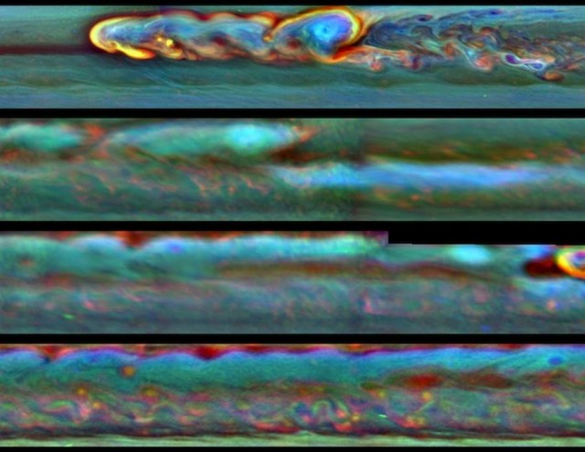 Huge Saturn Thunder Storm ate its own tail