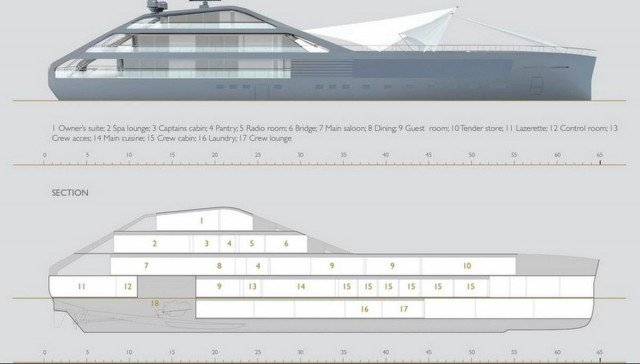 Jolly Roger mega-yacht by Palomba Serafini associati (1)