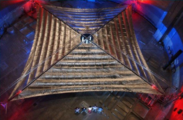 Largest solar sail ever to fly in 2014