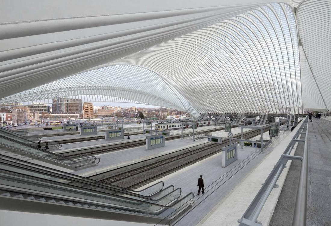 Li ge guillemins station by santiago calatrava wordlesstech for Architecture organique