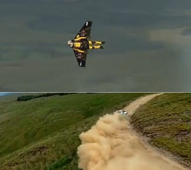Rocket Man vs. Rally Car