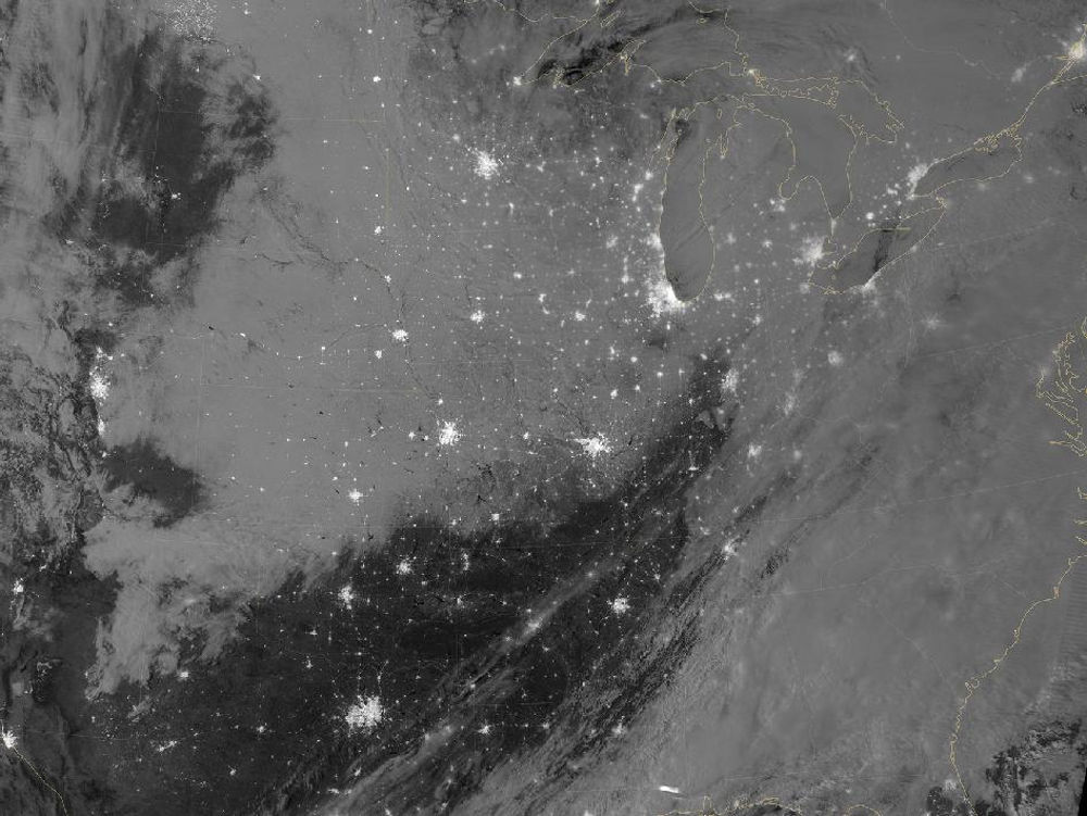 Snowstorm across Central United States