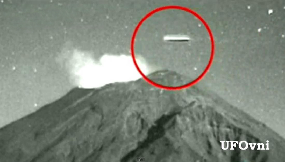 UFO at Popocatepetl Volcano