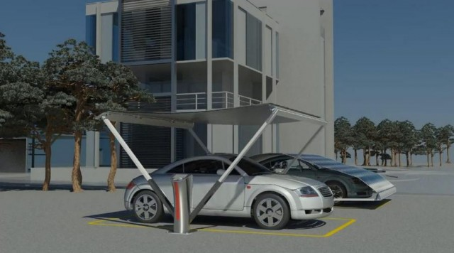 V-Tent Solar-Powered EV Charger