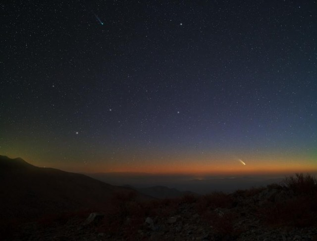Comets Lemmon and PanSTARRS
