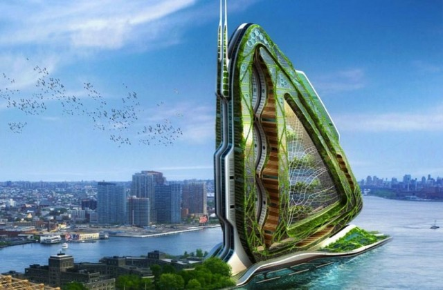 Dragonfly- Vertical Farm concept for NYC by Vincent Callebaut Architectures