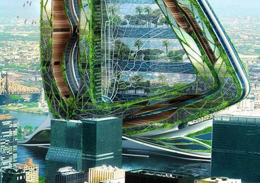 wordlesstech dragonfly vertical farm concept for nyc by vincent callebaut architectures. Black Bedroom Furniture Sets. Home Design Ideas