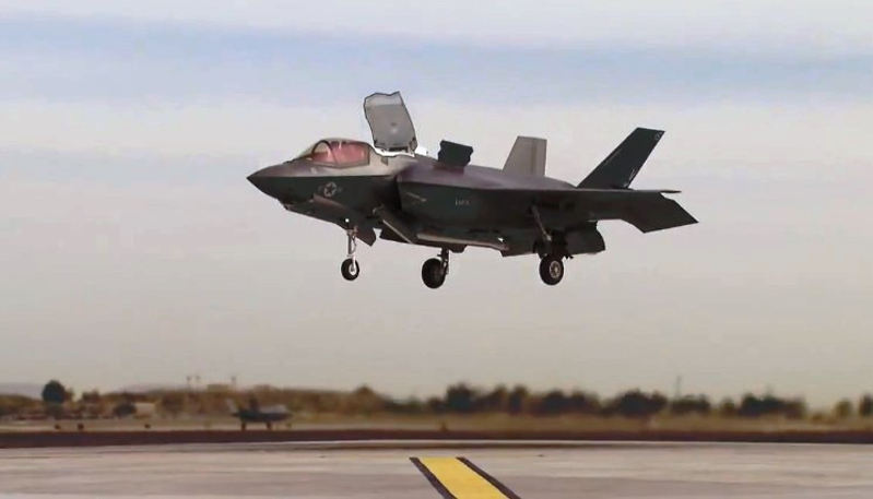 F-35B Conducts First Vertical Landing