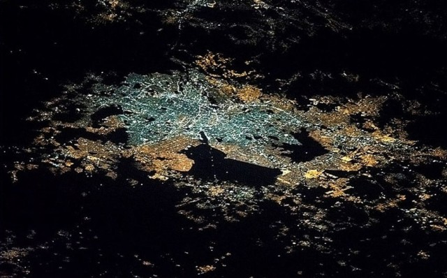 Mexico City at night from above