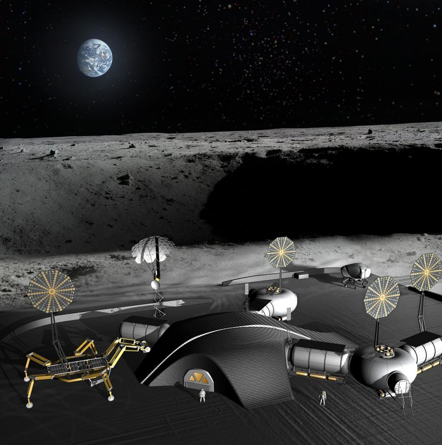 Space architects and NASA plan 3D-printed Lunar Base (7)