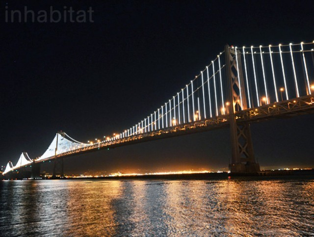 World's Largest Light Sculpture in San Francisco Bay Bridge
