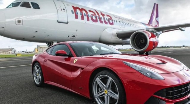 Air Malta A320 vs Ferrari F12 Berlinetta
