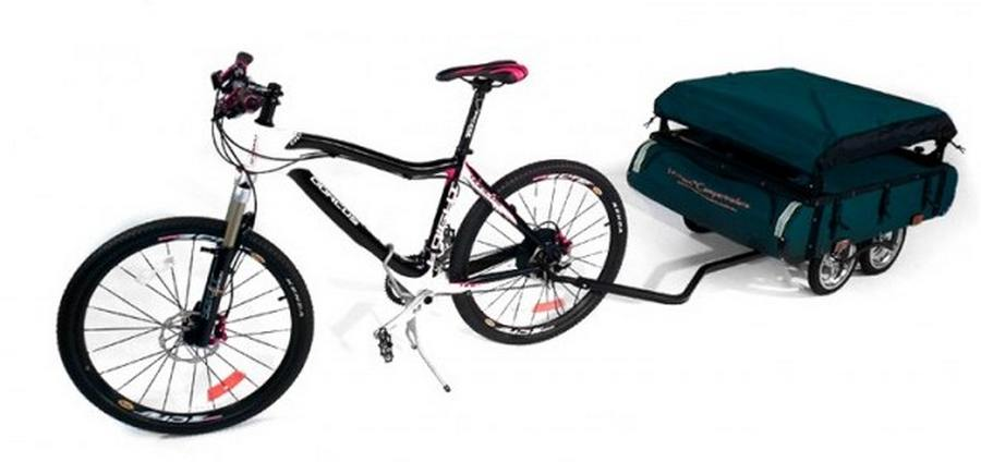 Awesome This Foldable Bicycle Camper Lets You Live Comfortably On The Road