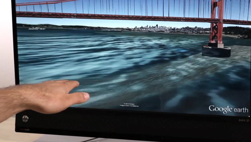 Google Earth supports Leap Motion