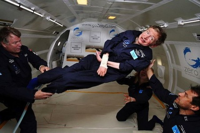 Stephen Hawking took to a zero-gravity jet in 2007