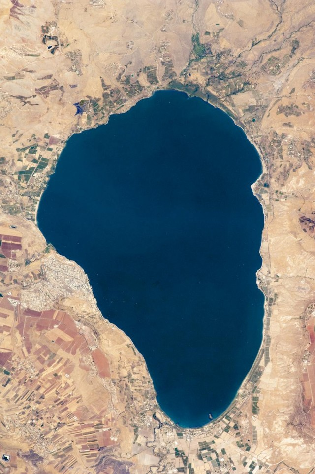 Sea of Galilee from space