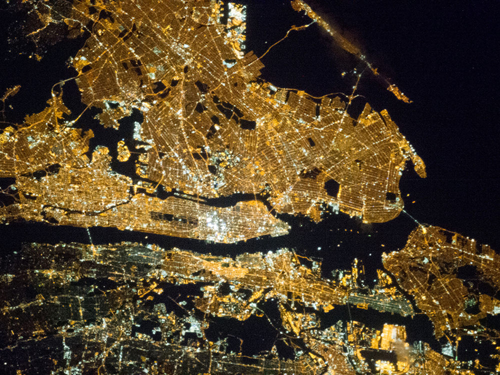 New York City at Night from above