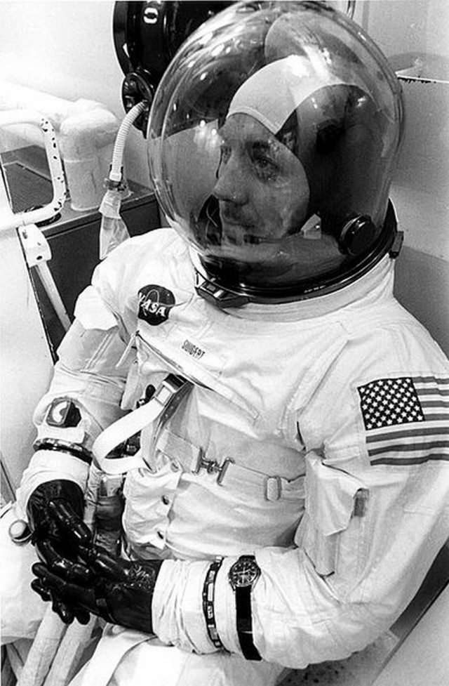 Jack Swigert with Speedmaster - Apollo 13